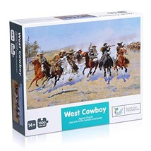 Powerextra 1000 Piece Jigsaw Puzzle: West Cowboy, Best Gift for Kids and Familie
