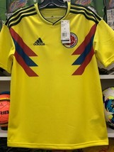2018 Colombia Home Jersey Youth XL ADIDAS World Cup Short sleeve Free Shipping - $49.49