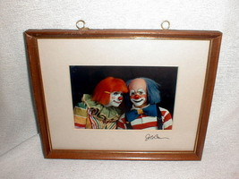 Ringling Brothers Barnum Bailey circus clown Darnell and Parish photo si... - $85.00