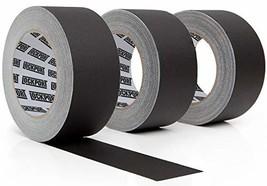 New: Black Gaffers Tape - 3 Pack, 30 Yards & 2 inch Wide- 3 roll Bulk Set Refill