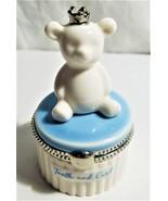 Baby Boy First Tooth/Curl Keepsake Teddy Bear Holder--Mud Pie - $11.00