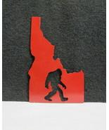Idaho Big Foot Sasquatch Made in Idaho Steel Plate Red Cutout  - $19.95