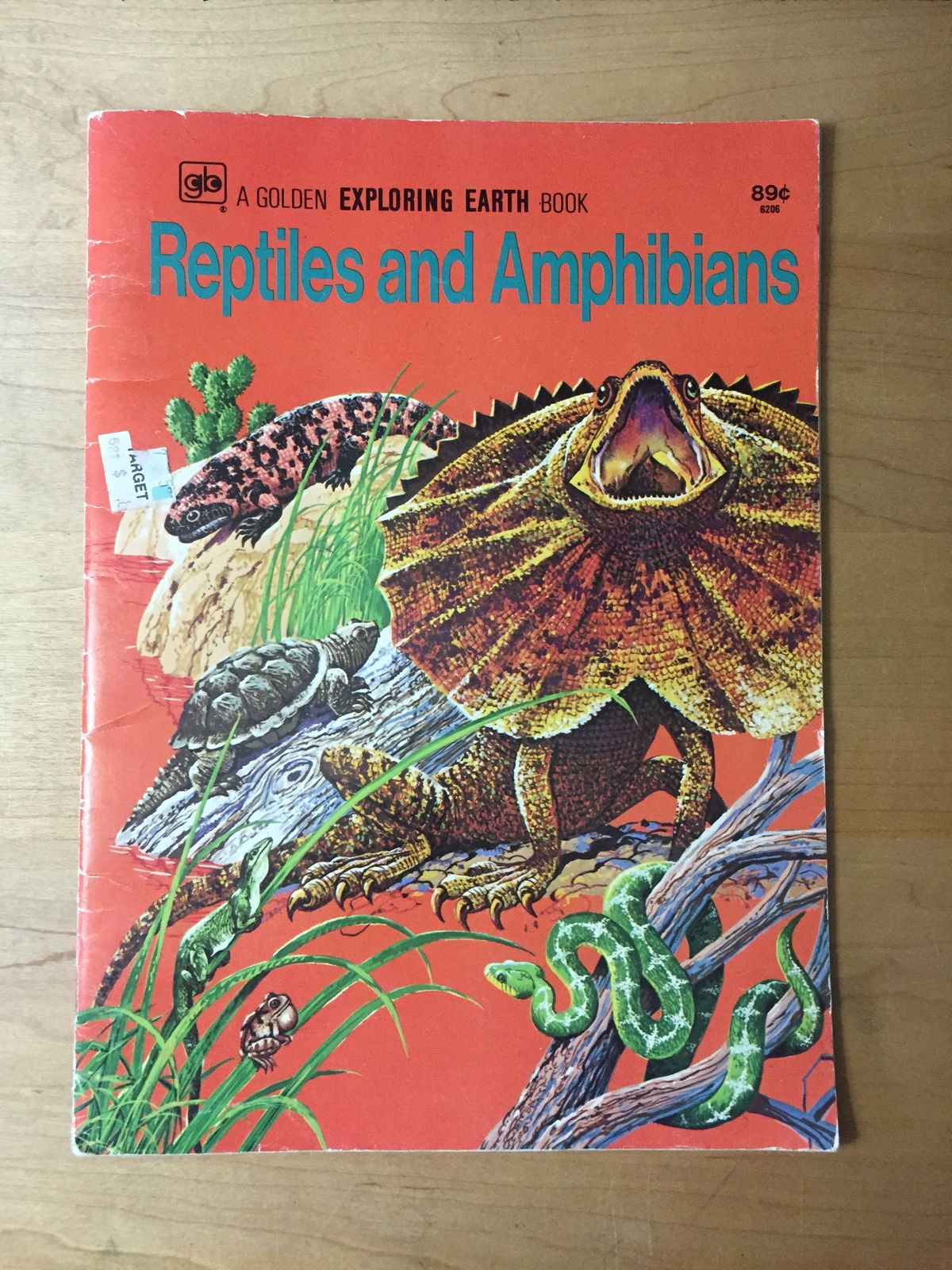 Vintage 1974 Reptiles and Amphibians Golden Exploring Earth Book