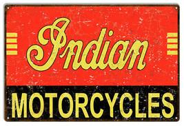Indian Motorcycles Vintage Metal Sign 12x18 - $21.78