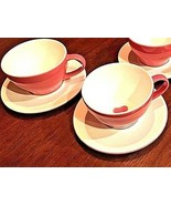 STARBUCKS Heart Espresso Pink Coffee Cup Saucer Set Mugs 12oz (3 sets available) - $13.24
