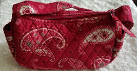 Vera Bradley Small Red Paisley Zipper Tote Handbag. Excellent - $17.75