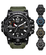 Waterproof Men Sports Watches Quartz Digital Analog Dual Military Wristwatches - $22.61