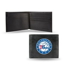 Philadelphia 76ers Wallet Embroidered Billfold Official NBA RICO Leather Black - $33.45