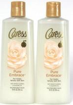 2 Bottles Caress 12 Oz Pure Embrace White Flowers & Almond Oil Velvety B... - $20.99