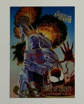 Spider-man Fleer Ultra 1995 135 Carnage USA Trading Card Statue of Liberty - $2.96