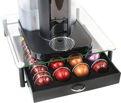 cajón de almacenamiento con soporte para cápsulas Nespresso vidrio templ... - $33.65
