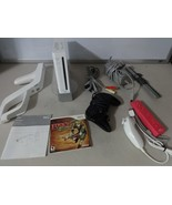 FULLY TESTED Original White Wii Console System + 3 Controllers Cables & ... - $98.00