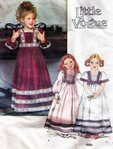 Vintage 1970's Child's Dress Little Vogue Pattern 1800-v Size 4 UNCUT - $14.00