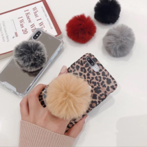 Mobile Phone Holder For Iphone Samsung Xiaomi New Rabbit Plush Fold Fing... - £2.77 GBP