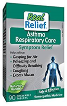 Real Relief Asthma Respiratory Care Tablets, Homeopathic, 90 chewable ta... - $16.96