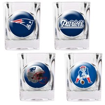 New England Patriots 4 piece Collector's Shot Glass Set  - $35.66