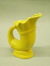 Vintage Cornucopia Vase Mini Pitcher yellow mi Japan ceramic porcelain 4... - $2.85