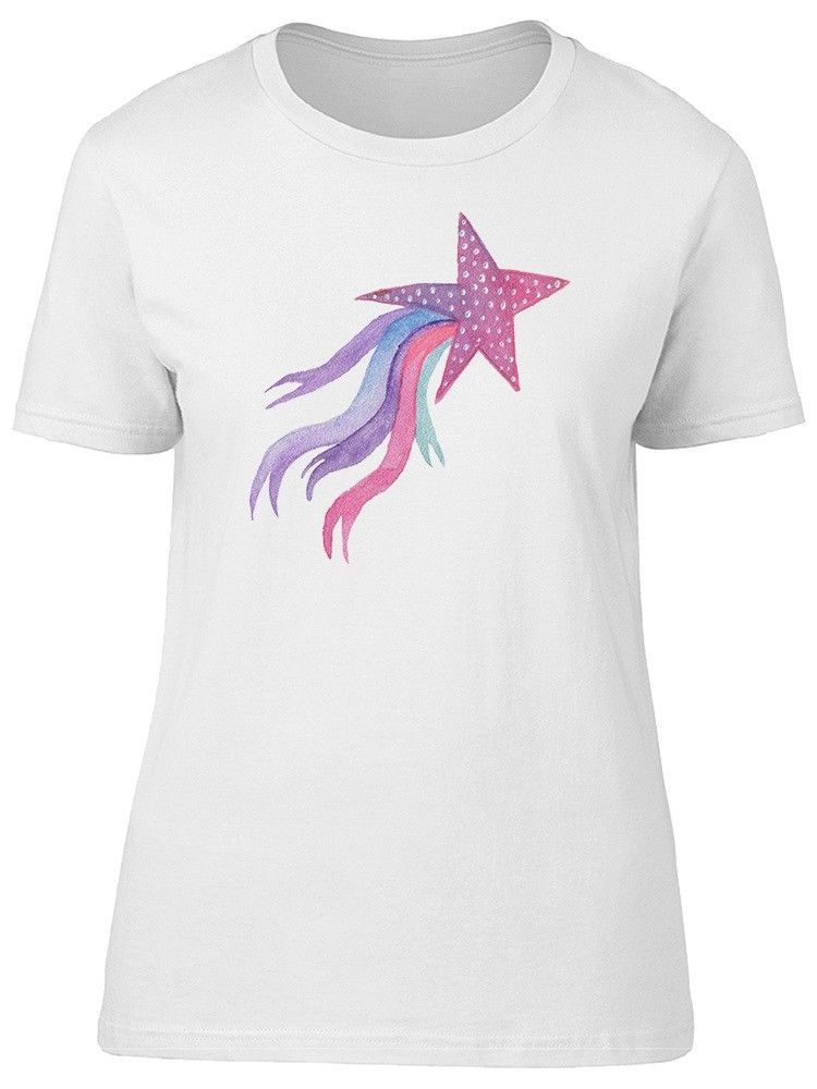Primary image for Watercolor Star With Ribbons Women's Tee -Image by Shutterstock