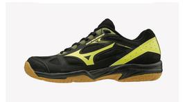 Mizuno SKY BLAST Badminton Shoes Table Tennis Shoes Black Yellow NWT 71G... - $65.61