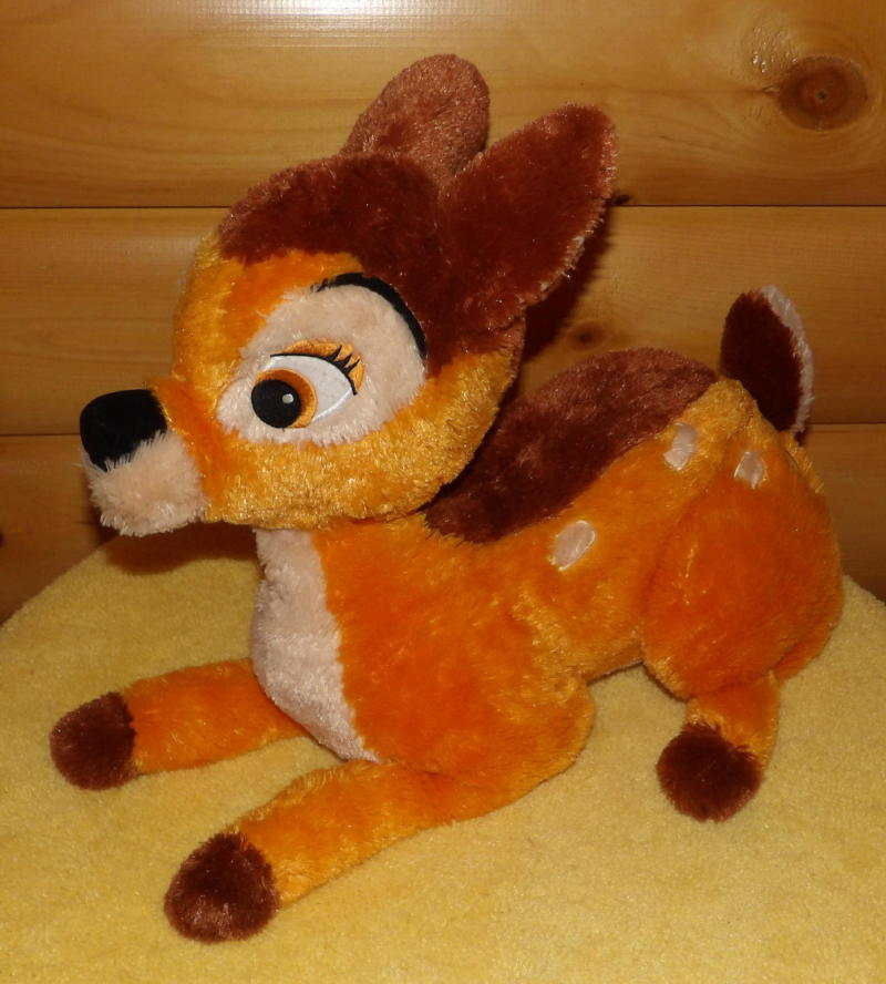 "Primary image for Disney BAMBI Plush 18"" Laying Beautiful Golden Colorful Spotted Fawn Buck Deer"