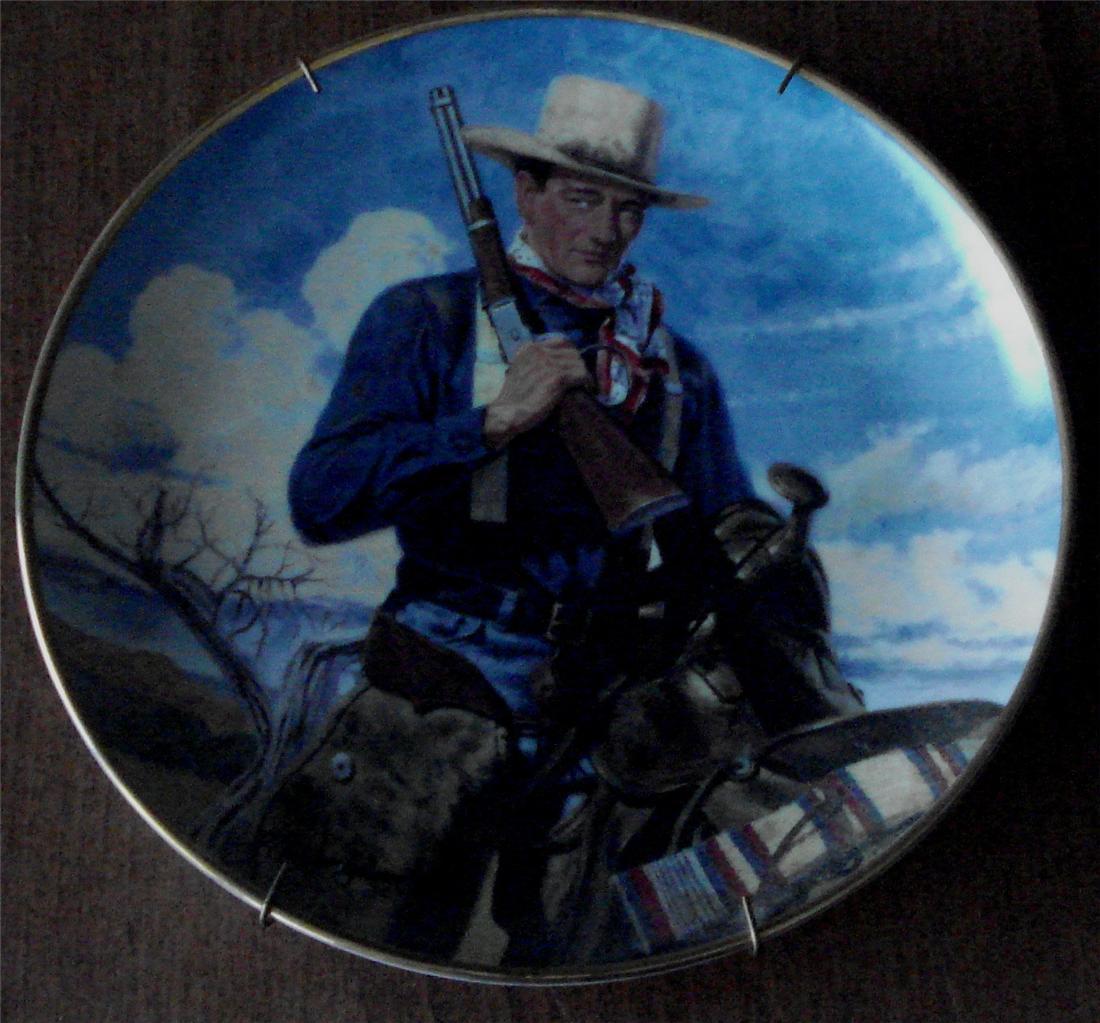 John Wayne Spirit of the West, Franklin Mint Heirloom Collectible Plate, LD 8605 - $24.74