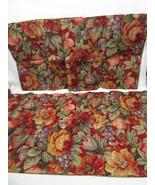 Raymond Waites Abington Floral Fruit Red 3-PC Café/Tier Panel and Valances - $58.00