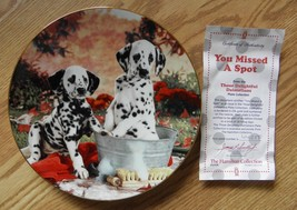 HAMILTON COLLECTION ''YOU MISSED A SPOT''8'' PLATE W/CERTIFICATE OF AUTH... - $10.88