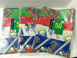 Vtg Sealed CLEO Christmas Sheet Wrapping Paper 24 Sheets 8 Designs 150 s... - $32.62