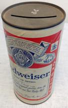 """Budweiser 6"""" Paper Cardboard Beer Can Bank 3158 MDA Bar Beer Advertising... - $16.82"""