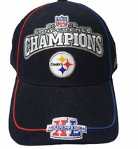Reebok Pittsburgh Steelers Hat AFC Conference Champions 2005 Super Bowl XL Adult - $15.86