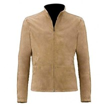 Mens James Bond Spectre Blouson Morocco Brown Suede Leather Jacket - $122.00