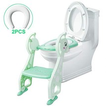 SSBRIGHT Potty Training Seat with Ladder Potty Training Toilet Toddler Potty Cha