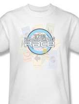 amazing race reality series phil keoghan team challenges white for sale tee  cbs121 at thumb200