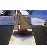 "Vintage George Good Wooden Ship Sailboat Music Box ""Beyond the Sea"" RARE - $19.59"