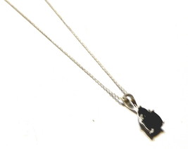 "BLUE SAPPHIRE TRILLION & CUSHION PENDANT WITH 18""L CHAIN, 925 SILVER, 1.60(TCW) - $45.00"