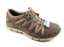 Skechers 23356 Dark Taupe Air Cooled Memory Foam Bungee Slip On Sneakers - $74.00