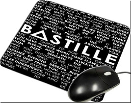 Bastille Lyric Collage Band Album Mouse pad New Inspirated Mouse Mats Ac8 - $6.99