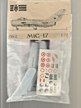 KP Plastikovy MIG-17  CIS7 1/72 scale Bagged - $10.65