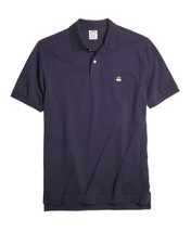 Brooks Brothers Mens Blue Gold Performance Polo Shirt Sz Small S $70 3685-3 - $55.53