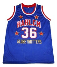 Meadowlark #36 Harlem Globetrotters Men Basketball Jersey Blue Any Size image 4