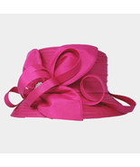 Ginga's Galleria Hot Pink Bow Accented Flower Dressy Derby Hat - $45.00