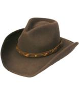 Henschel Felt Cowboy Hat Crushable Shapeable Water Repellent Leather Ban... - $63.00