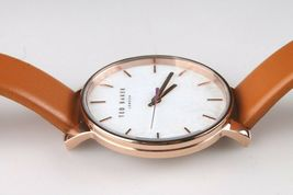 Ted Baker London TE50013007 Tan Genuine Leather Band & Rose-Gold-Tone Watch NWT image 3