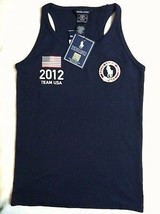 RALPH LAUREN GIRLS NEW NAVY 100% COTTON 2012 OLYMPIC TANK TOP SIZE L(12/14) - $36.47