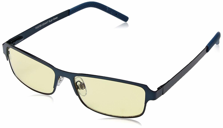 a6963192fbf45 ... Foster Grant Eye Gear Metallic Navy-Adult Rectangular Sunglasses
