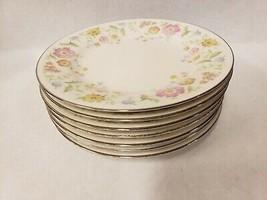 Noritake Ivory China Floral Flirtation 7227 Bread & Butter Plates Set of 7 - $29.69