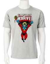 Captain Marvel Dri Fit graphic T-shirt microfiber Mar-Vell Sun Shirt comic tee image 1