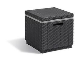 Koll Living Icebox XL, in Anthrazit, 42x42x41 cm, Kunststoff, Sitzhocker... - $78.46