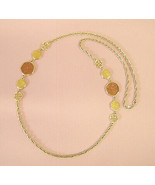 Vintage Sarah Coventry Necklace Taste of Honey gold metal chain costume ... - $7.60