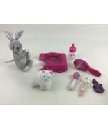 Barbie Accessories Toys Lot 8pc Medical Kit Light Up Brush Plush 2000s M... - $19.75